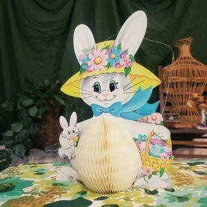 ADORABLE vintage spring accordion Easter bunny!